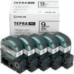 キングジム テプラ PROテープ/ラベルライター用テープ 〔幅:9mm〕 5個入り ST9K-5P 透明