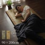 い草 い草マット 国産 ごろ寝マット フリーマット 枕付 ブラウン シングル 〔マット 約90×200cm・枕 約40×20cm〕