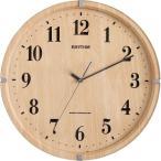 ショッピング円 円形 掛け時計/電波時計 〔ライトブラウン〕 電波式 連続秒針 ガラスカバー付き 『ライブリーアリス』〔代引不可〕