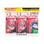 (まとめ) トンボ鉛筆 修正テープ モノYX5 本体5mm幅×12m KCC-345 1パック(3個) 〔×10セット〕