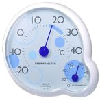 クレセル 温湿度計 ripple(リップル) 壁掛け・卓上用 ブルー CR-140B