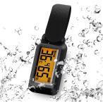 ドリテック dretec O-291BK ブラック 温湿度計 温度計 湿度計 時計 ブライン 防滴 熱中症  警告レベル表示  バックライト ポータブル