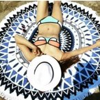 Yahoo!SHOP GRAMOROUS全品送料無料 カリフォルニアスタイルビーチタオルブランケット ラウンドビーチタオル ビーチタオル 水着パッド セール 春新作 レディース