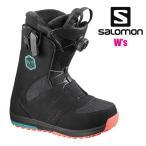 ショッピングSALOMON サロモン SALOMON スノーボードブーツ レディース IVY BOA アイヴィ BK/T.BL/BK スノーボード スノボ用