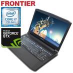 【新品】FRONTIER(フロンティア)15.6型ノート Windows10 Core i7-7700HQ 4GBメモリ 500GB HDD GeForce GTX1050Ti FRGN710G/E1【FR】