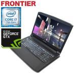 【新品】FRONTIER(フロンティア)15.6型ノート Windows10 Core i7-7700HQ 4GBメモリ 500GB HDD GeForce GTX1050 FRNZHM170G/E1【FR】