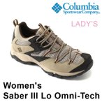 ショッピングトレッキングシューズ SALE コロンビア ウィメンズ セイバー3ロウ オムニテック トレッキングシューズ レディース トレイル アウトドア 防水 登山靴 ベージュ 女性 Columbia YL5261