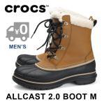 SALE クロックス スノーブーツ 防寒ブーツ 防水 メンズ Wheat_Black CROCS allcast 2
