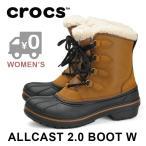 ポイント5倍 クロックス スノーブーツ 防寒ブーツ 防水 レディース Wheat CROCS allcast 2.0 boot w