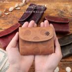 ミニ財布 レディース 小さい財布 財布 本革 コンパクト 薄い 小さい 大人可愛い 水玉 ドット Laugh・Rough 36496