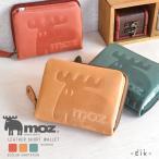 財布 レディース 二つ折り 本革 レザー 折財布 ラウンドファスナー ショートウォレット moz NO.86000