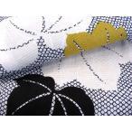 着物美人 送料無料 女性用 浴衣 ゆかた 綿紅梅 変り織り 大人 M F L 【 白 紺 鹿の子に蔦 】s416006-2