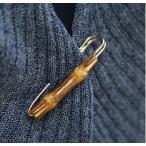 保存袋つき 送料無料 ストール マフラー クリップ ピン「バンブー スカーフ ピン 」2色