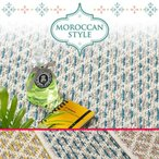 綿混さらっとしたモロッコ調デザイン夏用ラグ 「ARTワンダー」 約190x240cm【夏用カーペット】/竹 バンブー