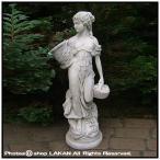 花かごを持つ乙女・小寸H70cm石像/イタルガーデン社 [ST017501]