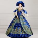 ブルードレス オーダーメイド可貴族 服 小さいサイズ 大きいサイズ 舞台 衣装 衣装 ヨーロッパ風 結婚式 服 豪華な女王 復古風 パニエ追加可da568f0f0