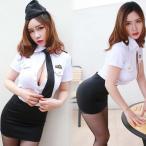 コスプレ衣装 制服 スチュワーデス テイストセクシー こすぷれ cosplay 女性 上着 スカート セクシー コスチューム キャビンアテンダント dg162zezeq2