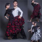社交ダンススカート(単品) ダンス 衣装 社交ダンス スカートS~3XL ステージ 練習着 豪華モダンなスカート競技着 練習服