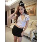 ハロウィン仮装衣装 婦人警官 婦警 COSPLAY コスプレコスチューム ミニスカポリス ハロウィン 仮装 テーマパーティー 4点セット S-XL eb439c0c0q2