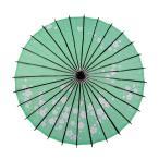 Smiti 和傘 紙傘 日傘 直径84cm 梅花 緑 黒骨