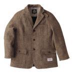 ジャケット メンズ ヘリンボーンクラブ ハリスツイードシューティングジャケット 3425 ブラウン