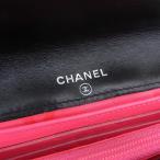 本物保証 シャネル CHANEL カンボンライン ココマーク 折り財布 黒 白 11番台 A26722