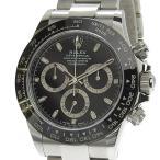 本物保証 美品 ロレックス ROLEX デイトナ 黒文字盤 メンズ 自動巻 オートマ 腕時計 116500LN ランダム番