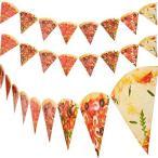ピザフォトバナー ピザペナント ピザパーティーテーマ装飾 ピザテーマ 誕生日 ベビーシャワーパーティー用品 組み立て済み 4ピース