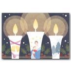 クリスマスカード ポストカード 聖夜ロウソク 絵葉書 和道楽
