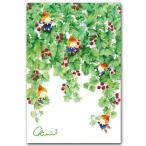 水彩イラストポストカード デイジーと妖精 花の絵葉書