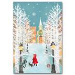 デジタル貼り絵ポストカード 「雪の街角」 和道楽