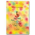 ショッピングメッセージカード無料 クリスマスカード 「メリークリスマス」 こころあったかメッセージ