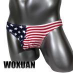 WOXUAN プリントビキニ 星条旗柄 綿 送料無料