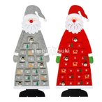 アドベントカレンダー 2021 子供 クリスマス プレゼント カウント サンタ 帽子 装飾 飾り