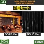 2種セット/iKON SINGLE ALBUM [NEW KIDS:BEGIN]/ ゆうメール発送/代引不可/和訳つき/2次予約/送料無料/初回ポスター終了