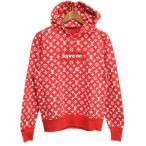 SUPREME(����ץ��)��LOUIS VUITTON  17AW Box Logo Hooded Sweatshirt �ܥå������������åȥץ륪���С��ѡ����� ��Υ�������� ��å�