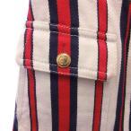 GUCCI(グッチ)19AW トリコロールストライプ GGボタンデザイン スカート 519436 レディース