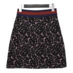 GUCCI(グッチ)17SS レース装飾ウエストラインスカート ブラック/ピンク レディース