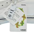 VISVIM(ビズビム)LOGAN オマージュデザインレザーハイカットスニーカー ホワイト US6