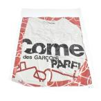 COMME des GARCONS PARFUMS (コムデギャルソン パルファム) クリスマス限定 ロゴプリント真空パック半袖Tシャツ ホワイト カットソー