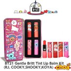 BT21 Gentle Britt Tint Lip Balm Kit [RJ, SHOOKY,COOKY,KOYA] 4P BTS-���ƾ�ǯ�� BT21����ܸ������� �Х󥿥� bts �������å�