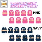 TWICE UNIVERSITY T-SHIRT NAVYtype  'RUN 20X20' SPECIAL MD /トゥワイス 公式グッズ