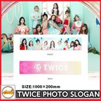 TWICE PHOTO SLOGAN TOWEL [TWICE 1ST TOUR TWICELAND -The Opening-] 公式グッズ TWICEグッズ