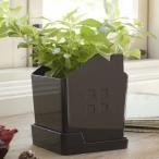 プランターカバー ハウス ブラウン 茶 家 植木鉢 鉢カバー 植物 園芸 ガーデニング インテリア
