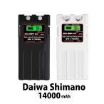 ダイワ シマノ 電動リール用 スーパーリチウム 互換バッテリー カバーセット 14.8V 超大容量 14000mAh パナソニックセル搭載