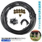ミストファン 20インチ 気化冷却 取り付け型  霧 熱中症 エコ 温暖化 打ち水 HOLE03-20