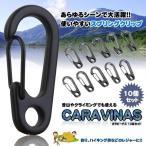 カラビーナス 10台セット カラビナ 登山 レジャー キャンプ カバン キーチェーン おしゃれ DIY 工具 旅 ET-P-KARAVENAS