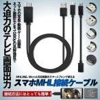 スマホ テレビ 接続 ケーブル2m MHLケーブル hdmi tv 出力 MHL対応 HDMI端子 microusb 変換アダプタ SETUSMACA