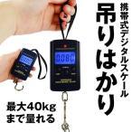 吊りはかり 釣り 荷物 旅行 電子はかり 携帯式デジタル スケール 最大40kgまで量れる HAKATURID