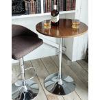 ハイテーブル ブラウン ラウンド型 径60cm 高さ90cm 円形 おしゃれ